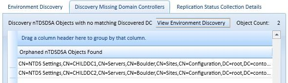 Figure 2: Discovering Two DCs Are Missing