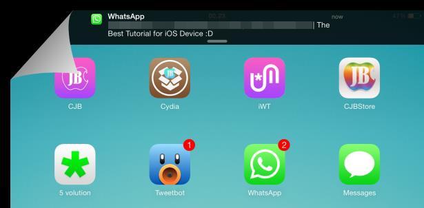Activate whatsapp ipad ipod iOS 7