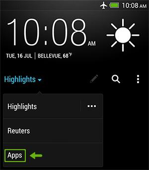 BlinkFeed - Viewing app updates