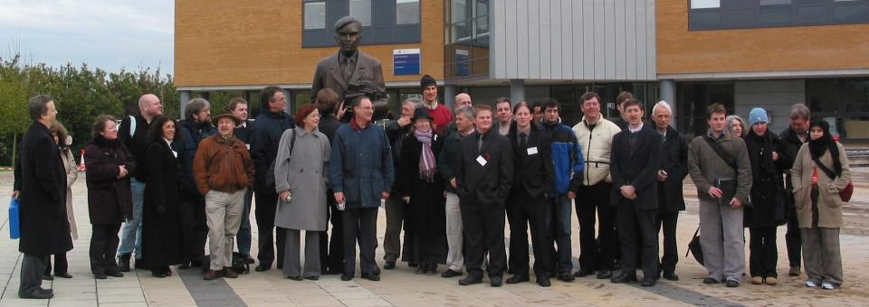 ALICE Birthday Group gathered at Alan Turing Statute at University of Surrey, Guildford, U.K.
