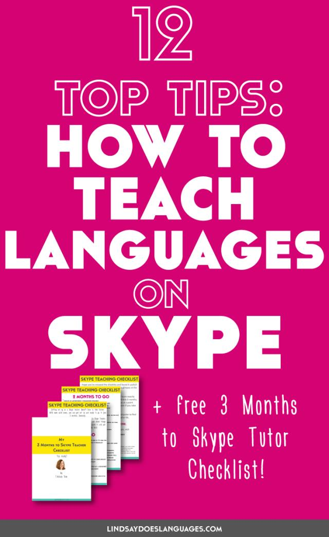 Teaching on Skype has quickly become a big part of my business. Want to know how to teach on Skype? Here are 12 top tips for teaching languages on Skype. Click through to read more!
