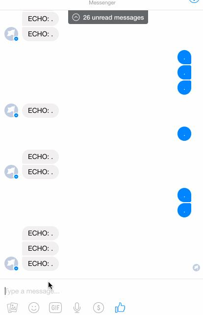 Echo bot working