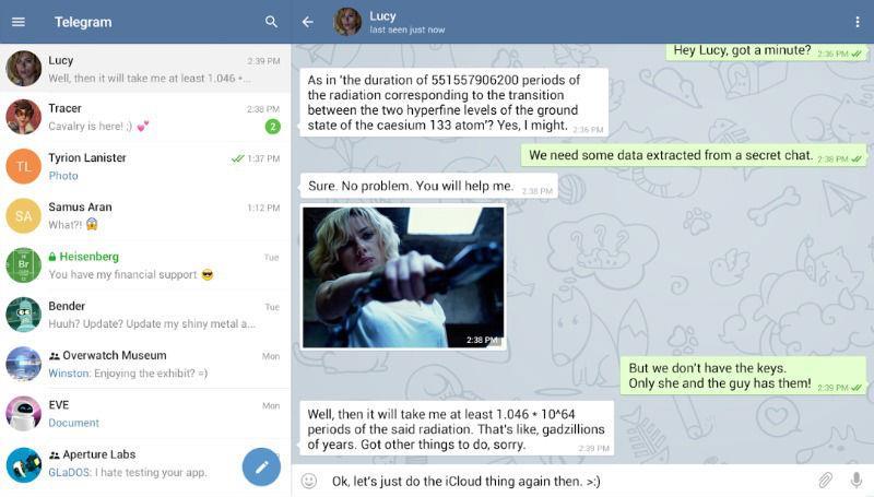 Telegram-screen