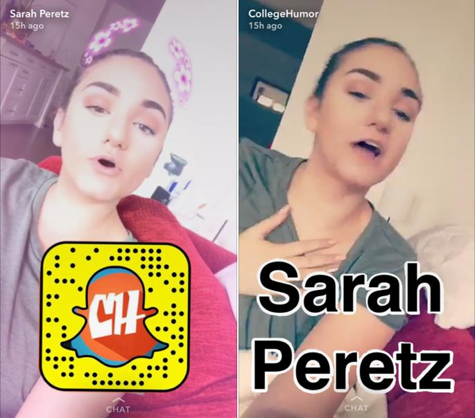 Sarah Peretz hosting a takeover for College Humor
