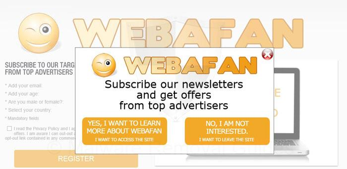 Remove Webafan.com pop-ups in Skype