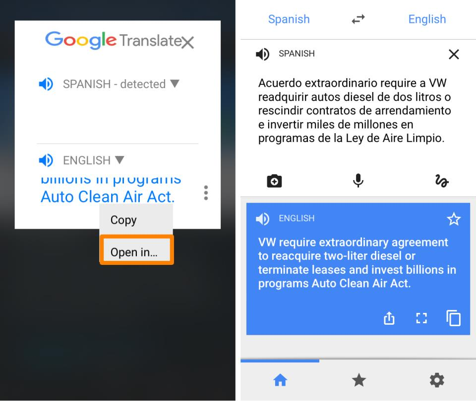 Tap to Translate Open in Google Translate for iOS Jailbreak