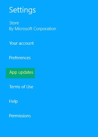 windows 8.1 app updates