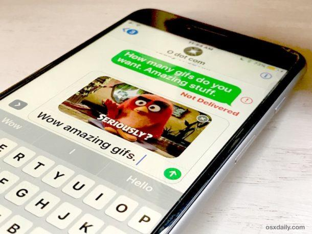 Search and Send GIFS in Messages for iOS