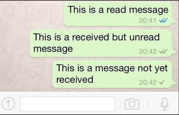 Whatsapp check marks