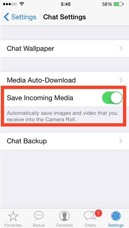 stop whatsapp from saving data 1