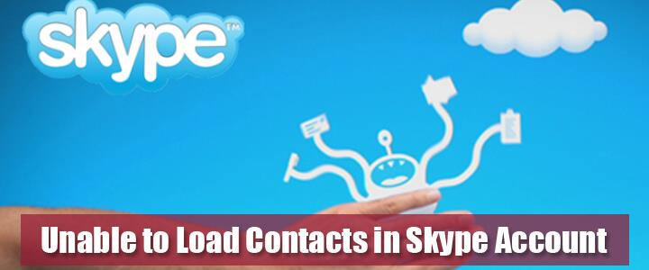 unable to load contact in Skype