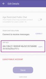 Viber edit account detail