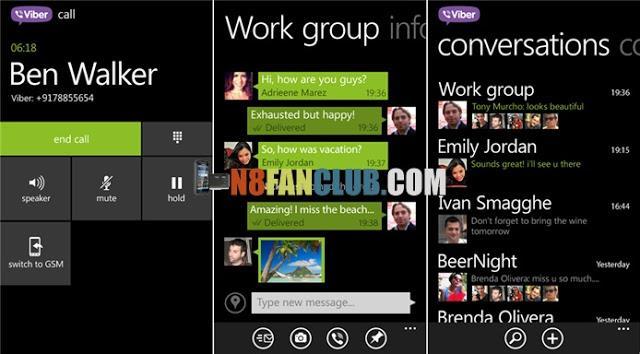 Viber for Nokia Lumia 920 - MessHelper