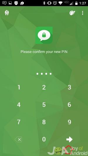 Confirm PIN