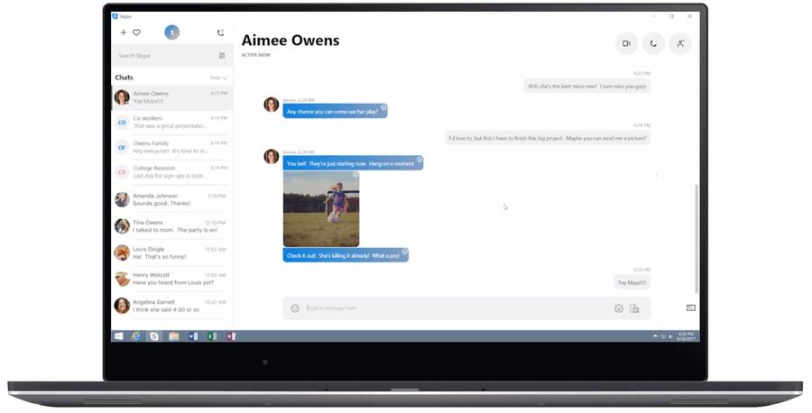 Skype's update lets you react to messages, mention people, and much more.