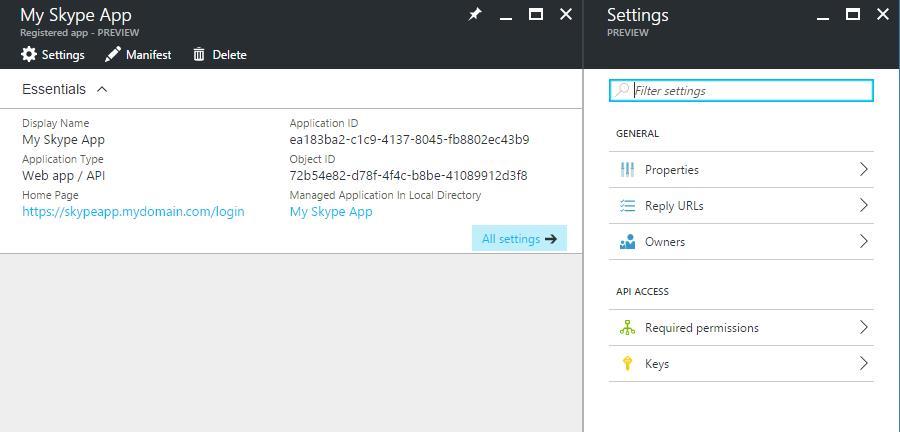 Azure Portal - AAD - Manage