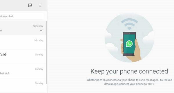 Using WhatsApp on PC