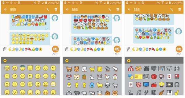 FlipFont 3 on Android for iPhone Emojis