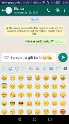 Get iPhone Emojis on Android through WhatsApp