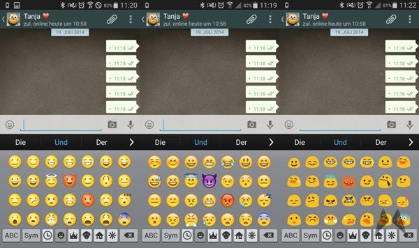 Emoji Swither on Android for iPhone Emojis