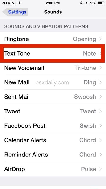 Change Message Sound Effect for iPhone