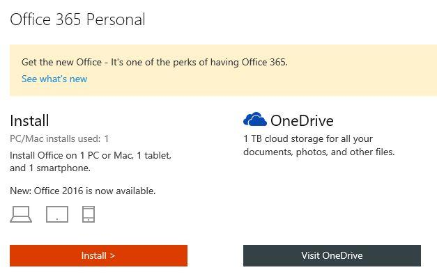 Install office 365 Personal