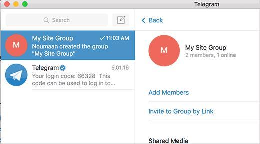 Adding new members to Telegram group