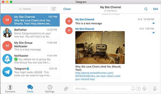 New post notification in Telegram channel