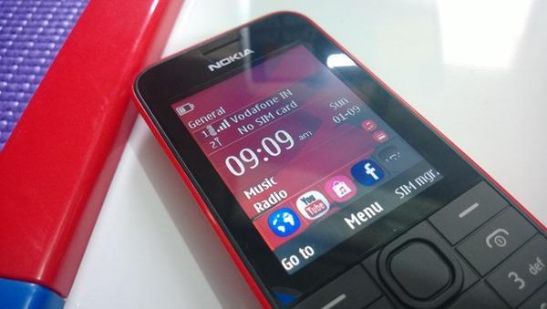 Nokia 208 Screen