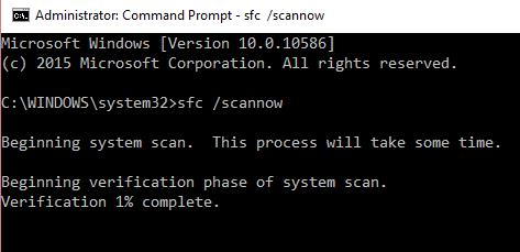 sfc scan now system file checker