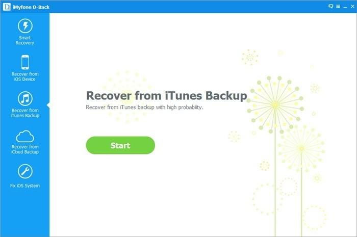 recover from iTunes backup