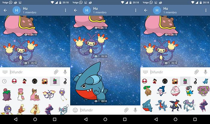 capturas de stickers de telegram de pokemon