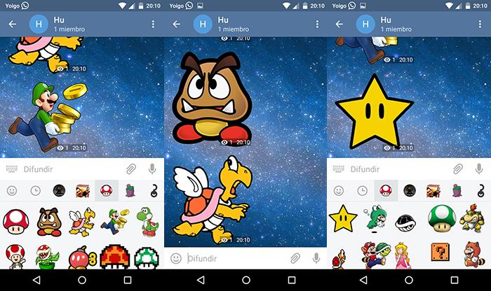 stickers de mario bros de telegram para android