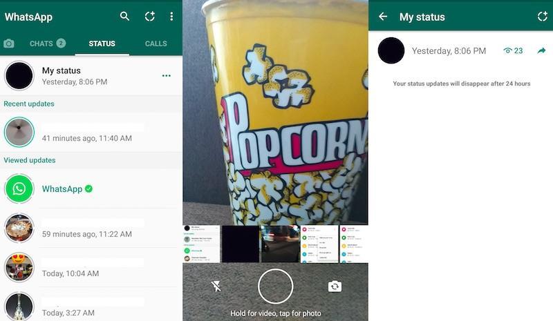 whatsapp set status WhatsApp