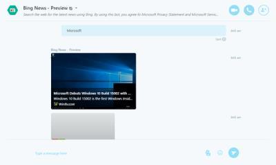 Bing News Best Skype Bots