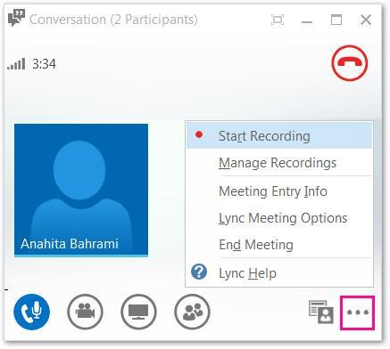 Record a Lync meeting