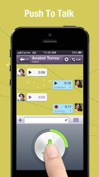 Viber 4.0 for iOS (iPhone screenshot 002)