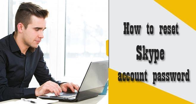 How to reset Skype account password
