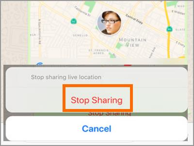 Whatsapp Live Location Stop Sharing Confirm