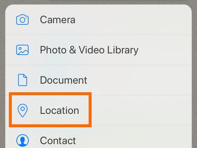 Whatsapp Chat Message Attach button Location