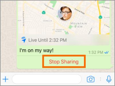 Whatsapp Live Location Stop Sharing