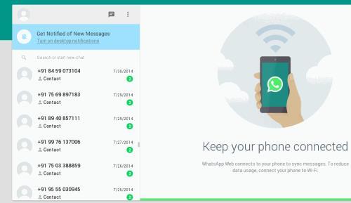 whatsapp web screen