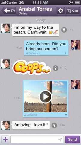 Viber 3.0 for iOS (iPhone screenshot 004)