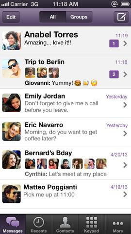 Viber 3.0 for iOS (iPhone screenshot 002)