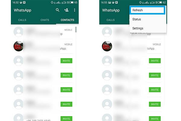Add Android WhatsApp Contacts