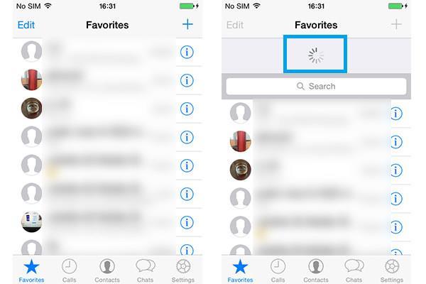Refresh iPhone WhatsApp Favorites