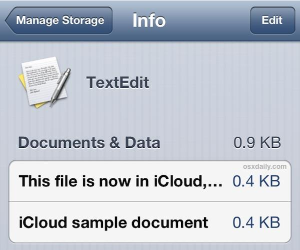 View iCloud documents in iOS