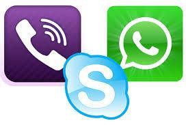 Viber Skype WhatsApp