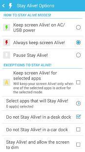 Stay Alive! Keep screen awake Screenshot