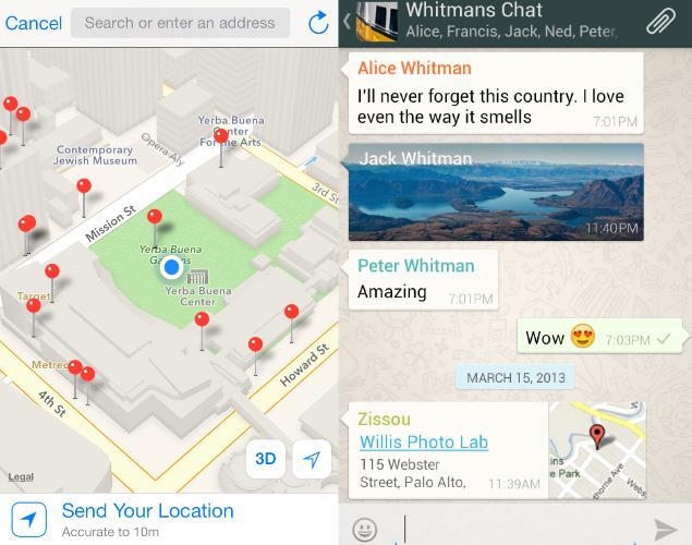 Sharing-Whatsapp-location
